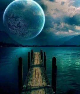 Moon and Pier